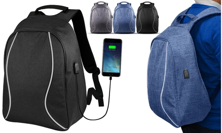 Anti-Theft Backpack with USB Charging Port with Optional USB...