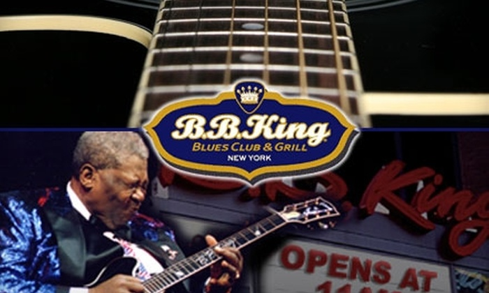 B.B. King Blues Club & Grill - Theater District - Times Square: One Concert Ticket at B.B. King Blues Club & Grill. Choose from Ten Shows.