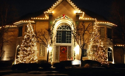 Christmas-Lights Installation for a 1-Story Home (a $200 value) - Lit by SwampTech in