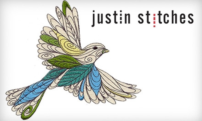 Justin Stitches - Vancouver: $20 for $40 Worth of Personalized Gifts and More at Justin Stitches on Granville Island