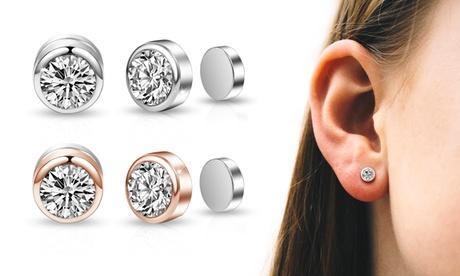 1 o 2 pares de aretes de clip magnético Philip Jones adornados con cristales Swarovski®
