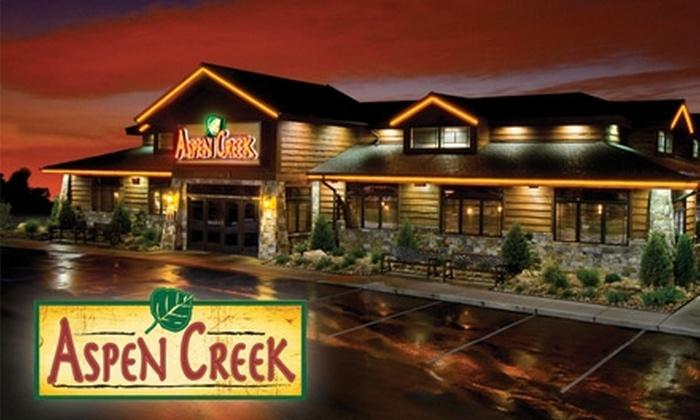 Aspen Creek Restaurant - East Louisville: $7 for $15 Worth of All-American Fare at Aspen Creek Restaurant