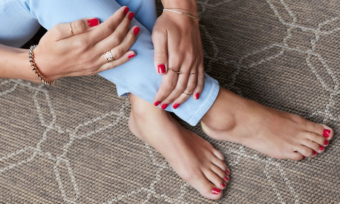 Allure Nail Spa - Prosperity Center: Gel Manicure, Gel Manicure and Signature Pedicure, or Signature Mani-Pedi at Allure Nail Spa (Up to 42% Off)