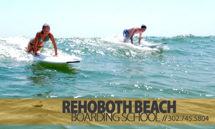 Rehoboth Beach Boarding School - Rehoboth Beach: $32 for a Two-Hour Surfing Lesson at Rehoboth Beach Boarding School ($65 Value)