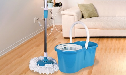 Rotating Spin Mop and Bucket Set with Replacement Mop Head