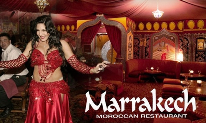 Marrakech Moroccan Restaurant - Paradise: $25 for $55 Worth of Moroccan Fare and Drinks at Marrakech Moroccan Restaurant