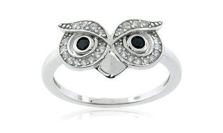 2.00 CTTW Round Cubic Zirconia Owl Ring