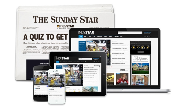 The Indianapolis Star: 26- or 52-Week Subscription to the Sunday and Thursday Edition of The Indianapolis Star (Up to 81% Off)