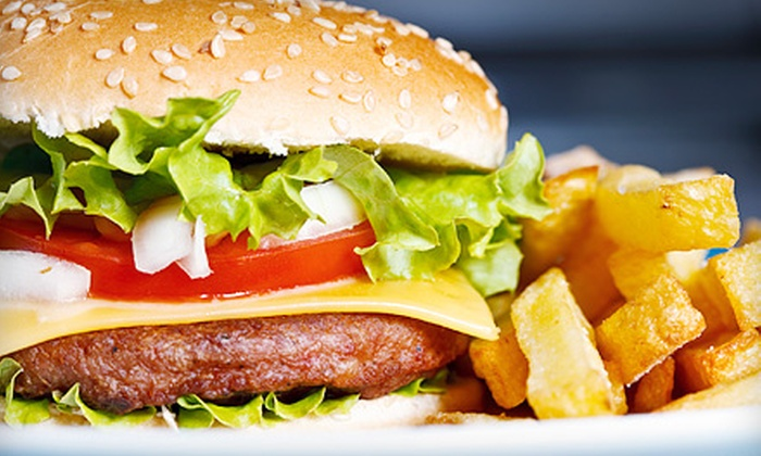 The Café Olé - Xenia: Burgers with Fries and Drinks for Two or Four at The Café Olé (Up to 53% Off)