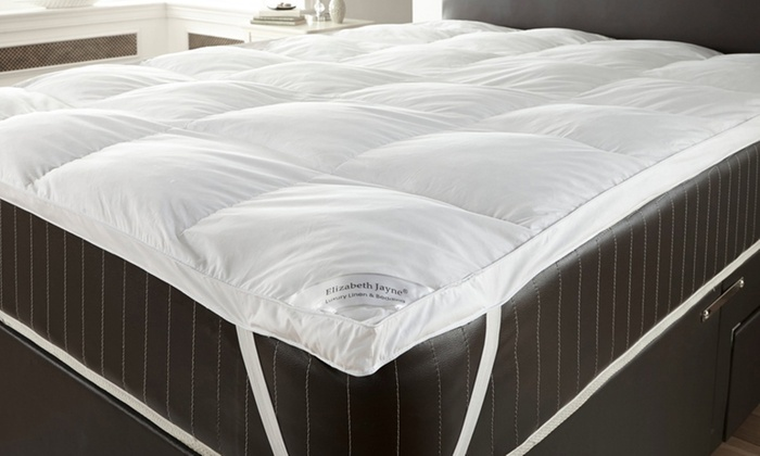 Groupon Goods Global GmbH: Two Goose Feather Pillows and Down Mattress Topper from €22.99 With Free Delivery (Up to 74% Off)
