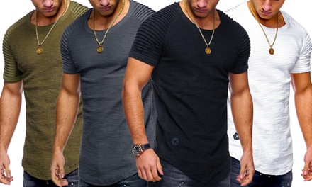 One or Two Men's Textured Sleeve TShirts