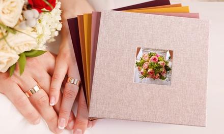 Vierkant fotoboek met fotokader op de voorkant van Colorland