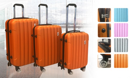 $119 for a ThreePiece TODO Lightweight ABS Hard Shell Luggage Set with TSA Locks Don't Pay $399