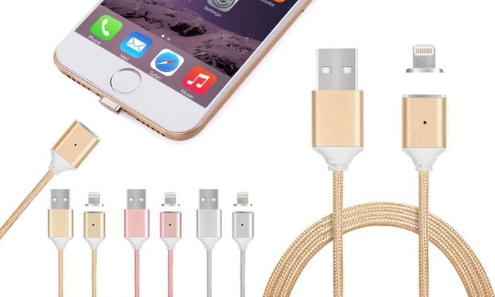Groupon Goods Global GmbH: 1 ou 2 chargeurs magnétiques iPhone et tous smartphones/tablettes, anti-casse de connecteur