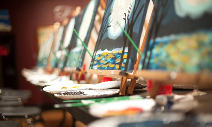 Pinot's Palette - Pinot's Palette Webster Groves: BYOB Painting Classes at Pinot's Palette (Up to 44%Off)