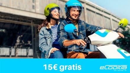 Paga 0 € en Groupon y obtén un bono de 15 € para alquiler de moto eléctrica con eCooltra Motosharing
