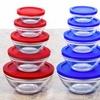 Wexley Home Glass Bowl Set with Airtight Lids (10-Piece)