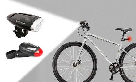 CYCLELITE LED Solar-Powered Bike-Light Set (2-Piece)