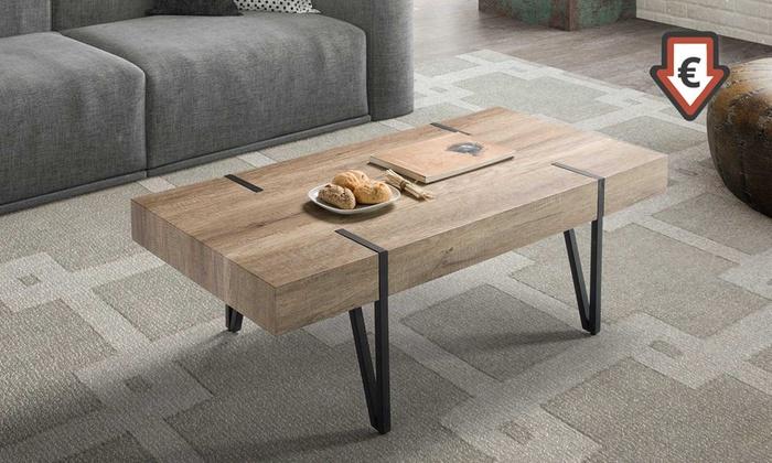 mesa de centro estilo industrial groupon