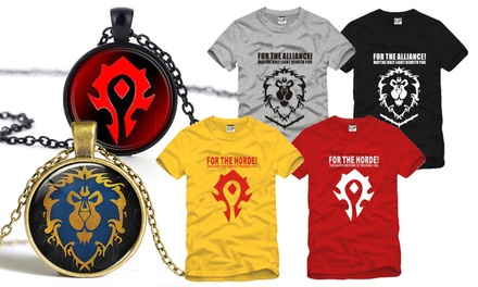 From $9.90 for a World of Warcraft-Themed Necklace (worth up to $68.80). T-Shirt Available