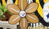 NFL Football Flower Wind Spinner: NFL Football Flower Wind Spinner