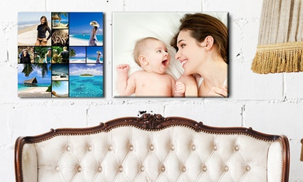 Personalised Canvas in Choice of Sizes from £2.95 (Up to 93% Off)