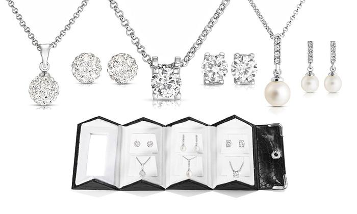 Coffret Philip Jones compos de 3 parures ornes de cristaux Swarovski® dès 2999 € (jusquà 89% de rduction)
