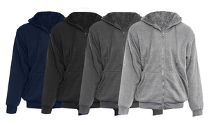 Alta Men's Hoodie Sherpa-Lined Sweater. Extended Size Available.