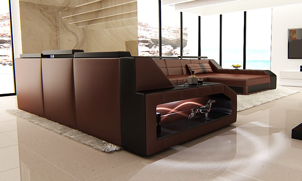 luxus designersofa aus leder groupon goods. Black Bedroom Furniture Sets. Home Design Ideas