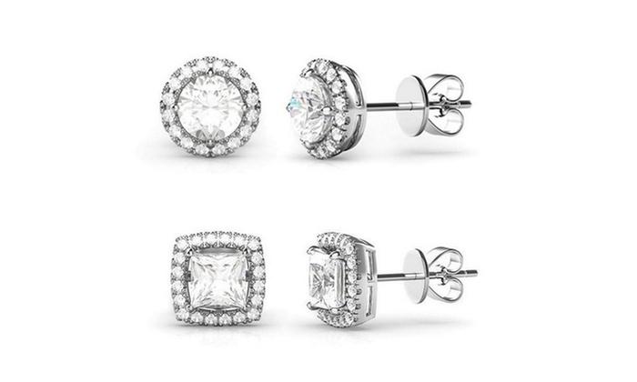 halo stud earrings groupon goods