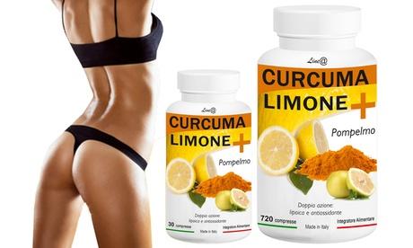 Hasta 720 tabletas de cúrcuma, limón y pomelo con un efecto adelgazante