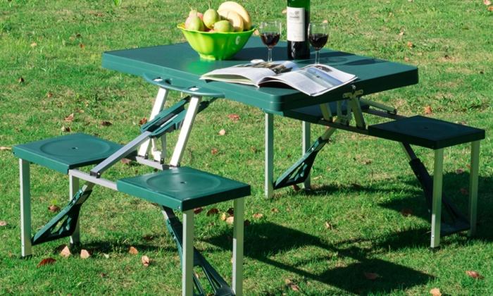 Set tavolo pieghevole e sgabelli groupon goods