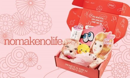 $25 for OneMonth Beauty Box Subscription from nomakenolife Up to $49.20 Value