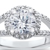 2 CTTW Enhanced Diamond Halo Engagement Ring in 14K White Gold
