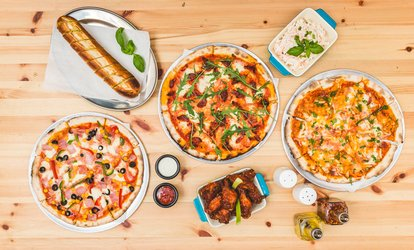 Pizza, Chips and Soft Drink for Up to Four at Checkpoint Pizza (Up to 45% Off)