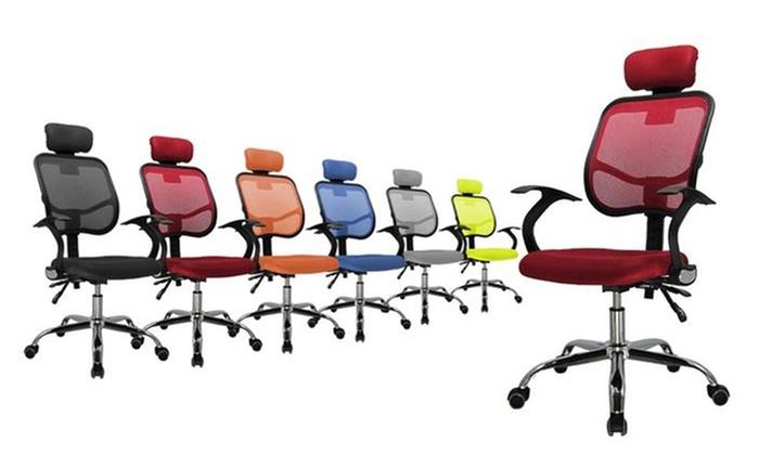 Sedie ergonomiche per ufficio groupon goods - Sedie per ufficio ergonomiche ...