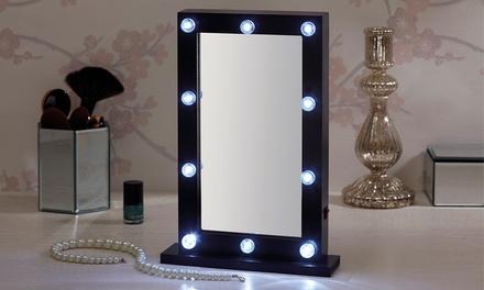 Specchio con lampadine LED con o senza batterie