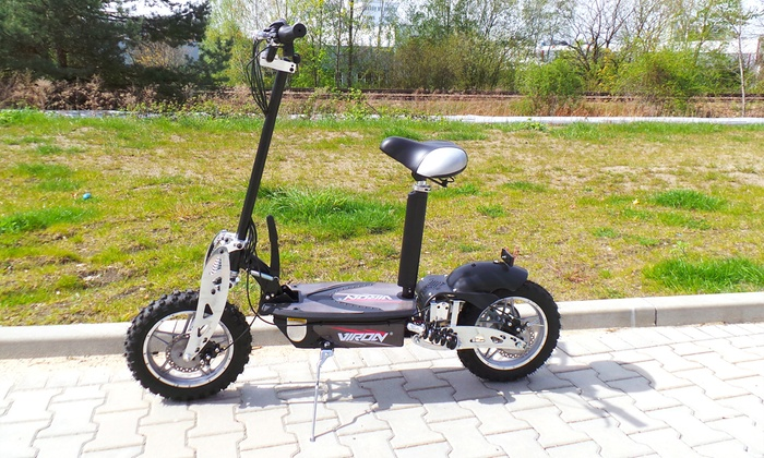 up to 34 off viron electric commuter scooter groupon. Black Bedroom Furniture Sets. Home Design Ideas
