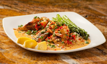 $29 for $50 Worth of French-Creole and Cajun Cuisine and Drinks for Two at Rhythm Kitchen Seafood & Steaks