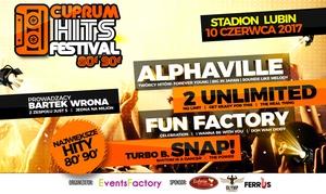 Cuprum Hits Festival: Od 89 zł: bilet na Cuprum Hits Festival z Alphaville, 2Unlimited, Fun Factory i więcej na Stadionie w Lubinie