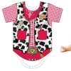 Faux Real Infant Girls' Cowgirl Romper