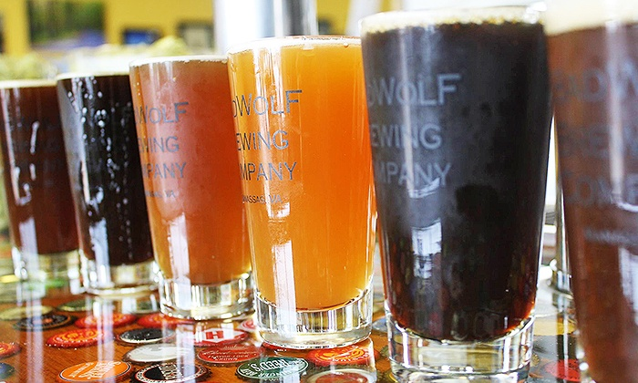 BadWolf Brewing Company - Multiple Locations: Pint Glasses, Growlers, and Merchandise at BadWolf Brewing Company (Up to 50% Off). Three Options Available.