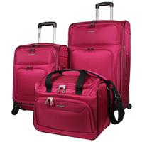 Groupon.com deals on Ciao Sport Challenger Spinner Luggage Set 3-Piece