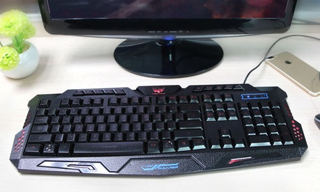 Wired Gaming Keyboard with Three Backlight Colors 020f26fe-31d2-11e7-bd9f-00259060b5da
