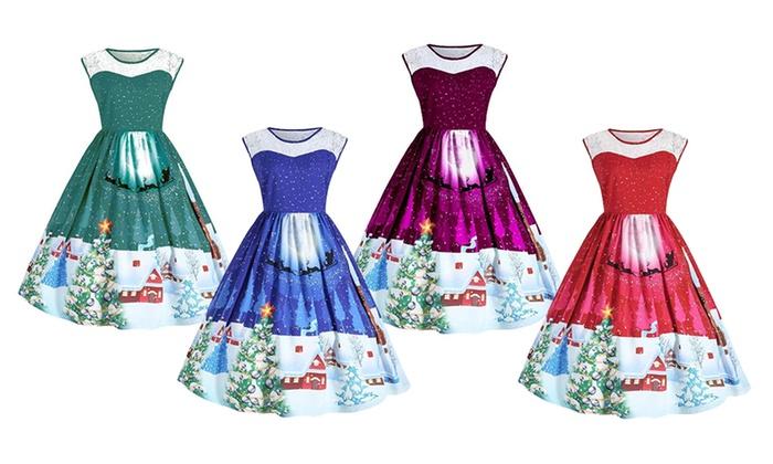 buy online 7edb7 ae7fa Bis zu 50% Rabatt Weihnachtskleid für Damen | Groupon