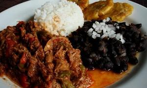 La Colonial de Huertas: Menú cubano para dos personas con entrante, principal, postre o café y bebida desde 19,95 € en La Colonial de Huertas