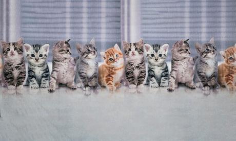 1 o 2 tappeti passatoie in ciniglia con stampa di gatti disponibili in varie dimensioni