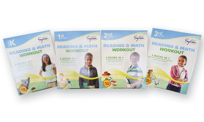Sylvan Reading and Math Workout Learning Book Bundle (4-Pack)