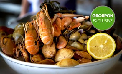Seafood or Meat Share Platter with Drink for Two ($29) or Four ($57) People at Chilli Bar & Cafe (Up to $121.80 Value)