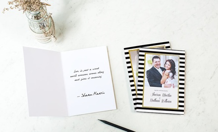 Flat or Folded Identical Greeting Cards: 20 (from $12.95), 50 (from $25.95) or 100 (from $39.95) (Don't Pay up to $205)